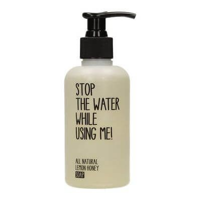 Stop the water while using me All Natural Lemon...